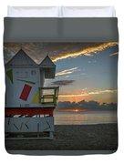 8041- Miami Beach Sunrise Duvet Cover