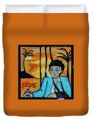 8303-2-  Little Havana Mural Duvet Cover