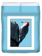 #8671 Woodpecker Duvet Cover
