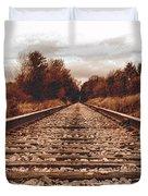 86ed On The Tracks Duvet Cover