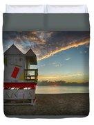 8990- Miami Beach Sunrise Duvet Cover