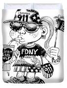 9/11 Commercialization Duvet Cover