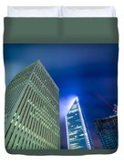Charlotte North Carolina Skyline Duvet Cover