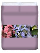 Close-up Of Flowers Duvet Cover