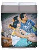 Concert Audience Duvet Cover