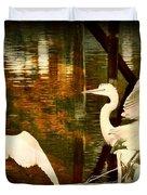 9 Egrets Duvet Cover