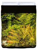 Fall Color Fern Duvet Cover