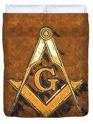 Freemason, Mason, Masonic Symbolism Duvet Cover
