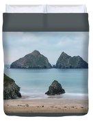 Holywell Bay - Cornwall Duvet Cover
