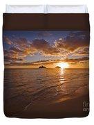 Lanikai Sunrise Duvet Cover