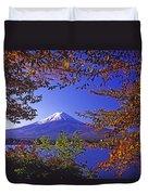 Mount Fuji In Autumn Duvet Cover