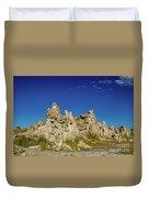 Natural Rock Formation At Mono Lake, Eastern Sierra, California, Duvet Cover