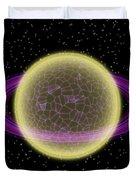 Network Planet Duvet Cover