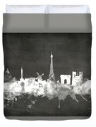 Paris France Skyline Duvet Cover