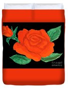 Red Rose, Painting Duvet Cover