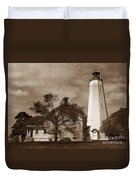 Sandy Hook Lighthouse Nj  Duvet Cover