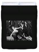Silent Still: Man & Woman Duvet Cover