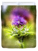 Silybum Eburneum Milk Thistle Duvet Cover