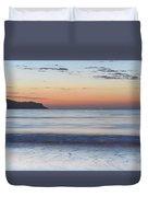 Soft Sunrise Seascape Duvet Cover