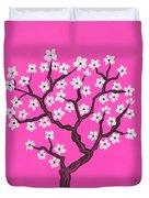 Spring Tree In Blossom, Painting Duvet Cover