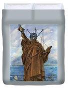 Statue Of Liberty 1886 Duvet Cover
