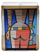 Street Art In Palma Majorca Spain Duvet Cover