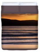 Sunrise Seascape And Headland Duvet Cover