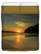 Sunrise Seascape From The Beach Duvet Cover
