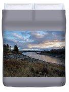 Sunset Down East Maine Duvet Cover