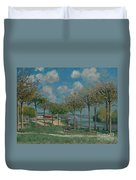 The Seine At Bougival Duvet Cover