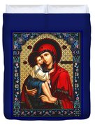 Virgin And Child Icon Religious Art Duvet Cover