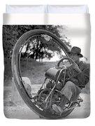 90 M P H Monocycle - 1933 Duvet Cover
