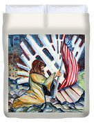 911 Cries For Jesus Duvet Cover