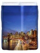 911 Tribute In Light In Nyc II Duvet Cover