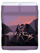 Abstract Art Landscape Of Triangles Duvet Cover