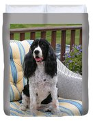 #940 D1034 Farmer Browns Springer Spaniel Duvet Cover