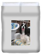 #940 D1036 Farmer Browns Springer Spaniel Happy For You Have A Happy Day Duvet Cover