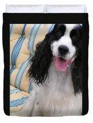#940 D1037 Farmer Browns Springer Spaniel Happy Duvet Cover