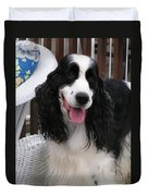 #940 D1038 Farmer Browns Springer Spaniel Adorable Happy Duvet Cover