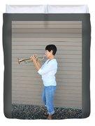 Jazz Musician. Duvet Cover