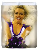A Baltimore Ravens Cheerleader  Duvet Cover