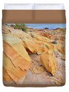 A Band Of Gold In Valley Of Fire Duvet Cover