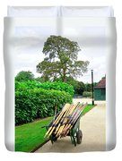 A Barrow Load Of Oars Duvet Cover