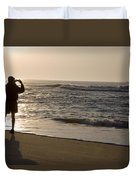 A Beach Walker Photographs Sunrise Duvet Cover
