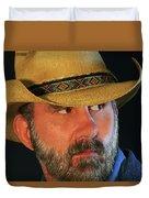 A Bearded Cowboy Duvet Cover