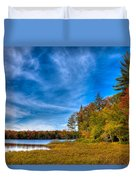 A Beautiful Autumn Day On West Lake Duvet Cover