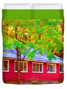 A Beautiful Country Building In The Fall 1 Duvet Cover