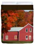 A Beautiful Country Building In The Fall 2 Duvet Cover