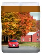 A Beautiful Country Building In The Fall 4 Duvet Cover