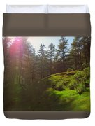 A Beautiful Day In Woods Duvet Cover